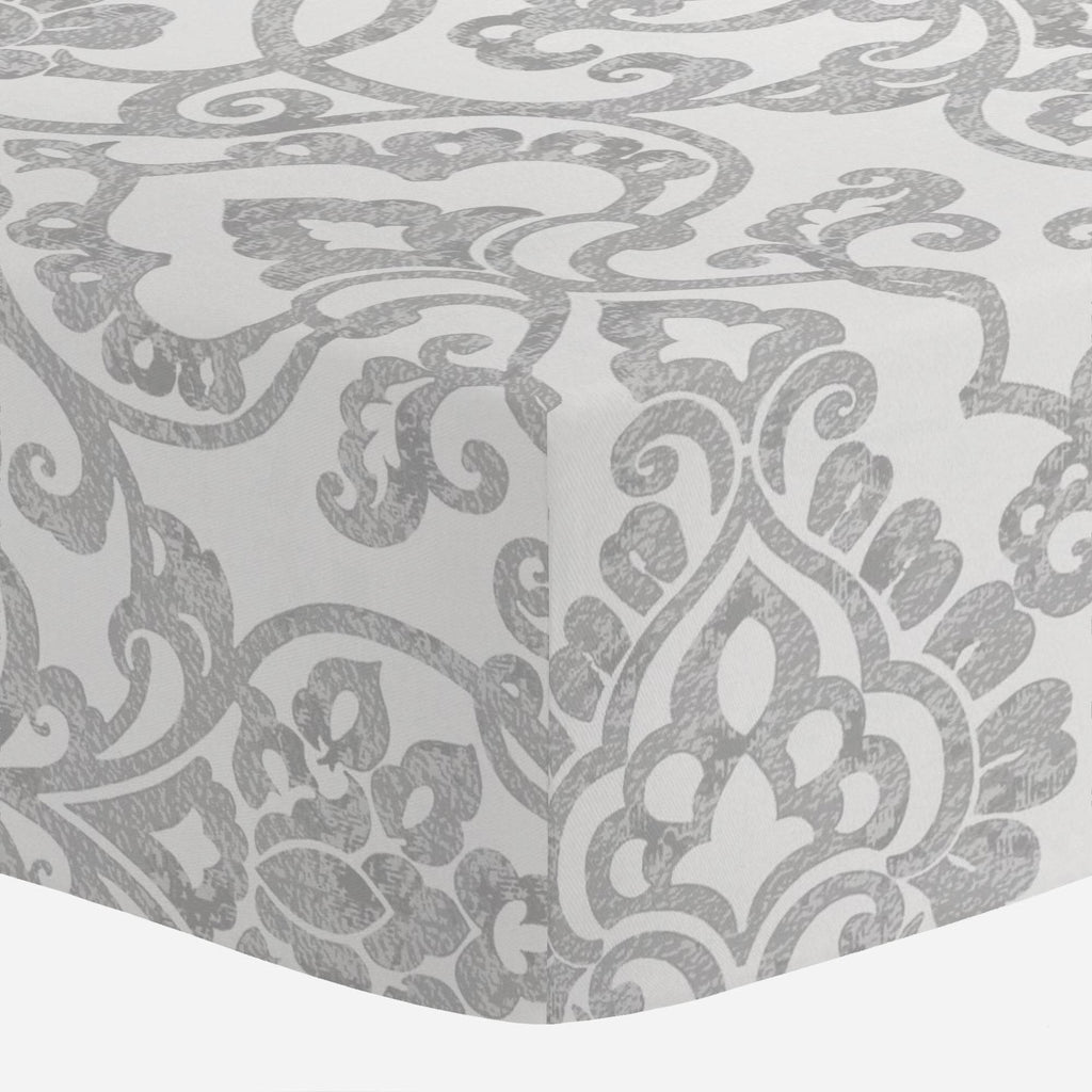 Product image for Gray Filigree Crib Sheet
