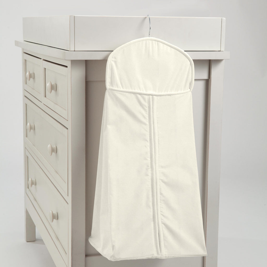 Product image for Solid Ivory Diaper Stacker