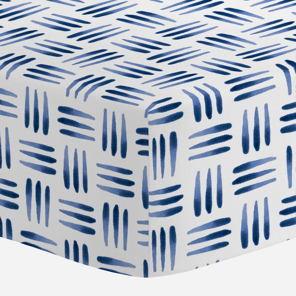Product image for Blue Basket Crib Sheet
