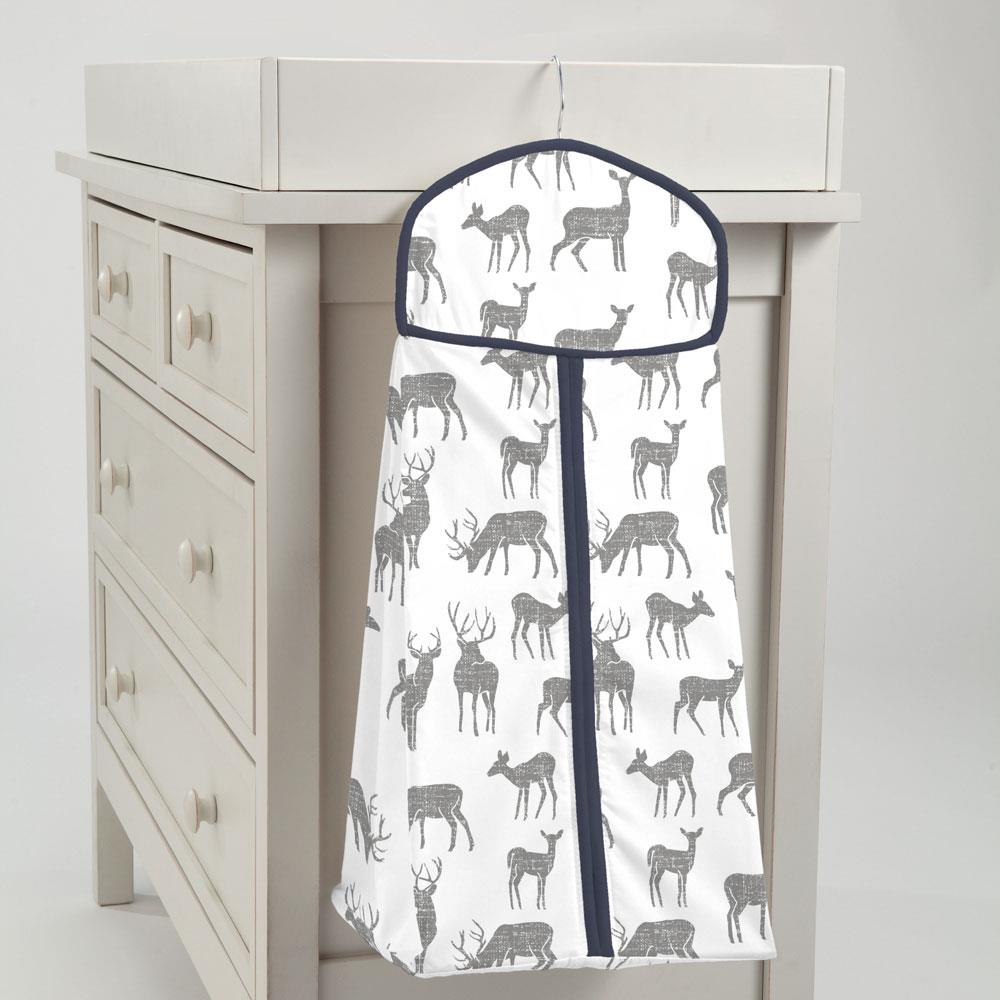 Product image for Cloud Gray Deer Diaper Stacker