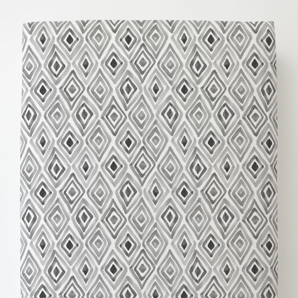 Product image for Gray Painted Diamond Toddler Sheet Bottom Fitted