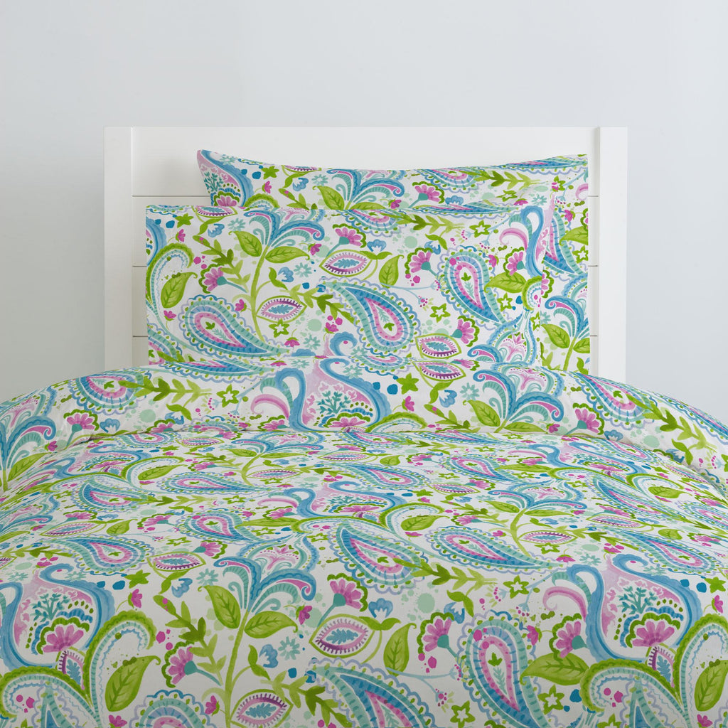 Product image for Orchid Painted Paisley Duvet Cover