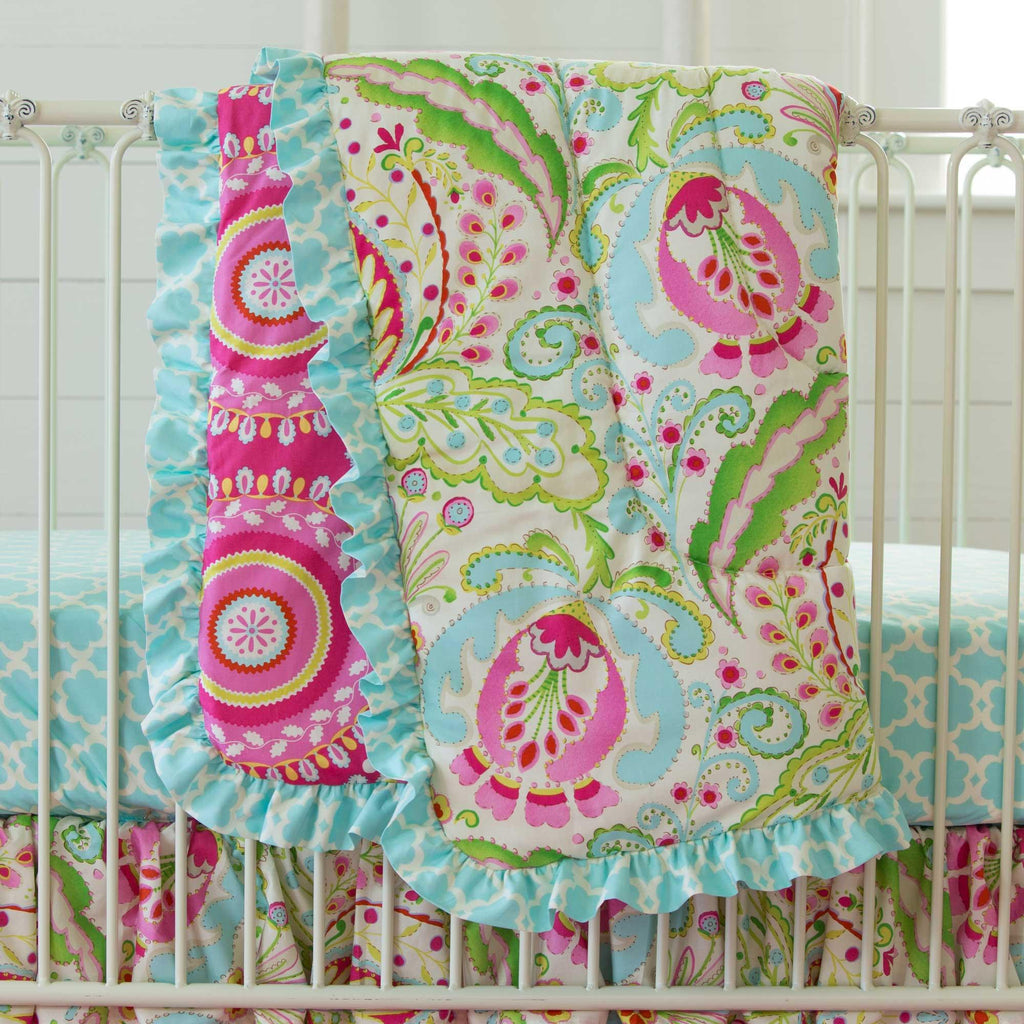 Product image for Kumari Garden Teja Crib Comforter with Ruffle