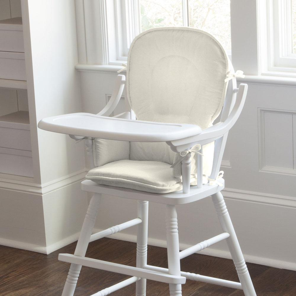 Product image for Solid Ivory High Chair Pad