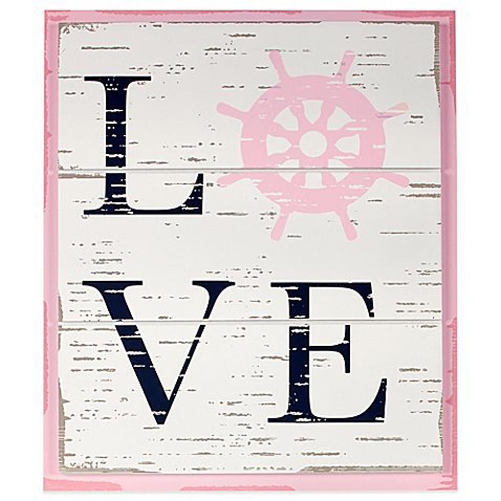 Product image for Pink and Navy Love Wall Decor