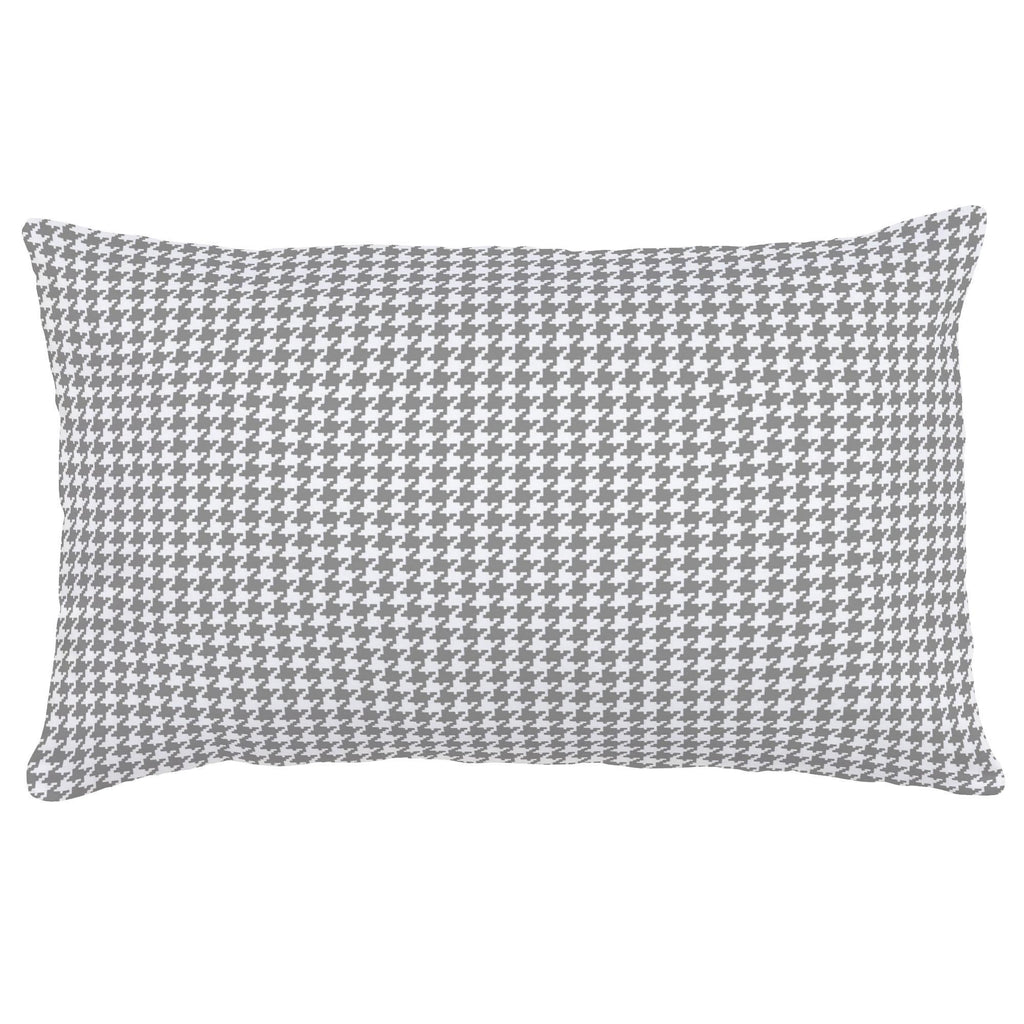 Product image for Cloud Gray and White Houndstooth Lumbar Pillow