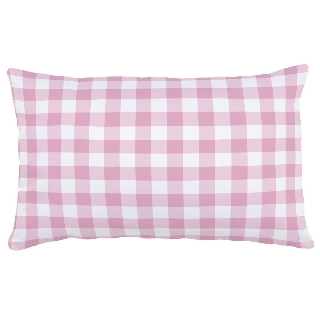 Product image for Bubblegum Gingham Lumbar Pillow