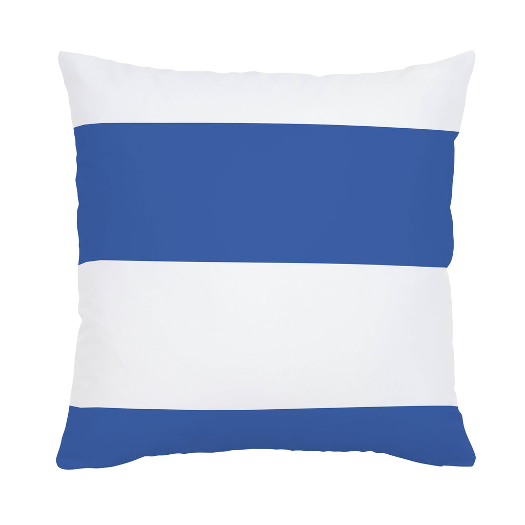 Product image for Ocean Blue Horizontal Stripe Throw Pillow