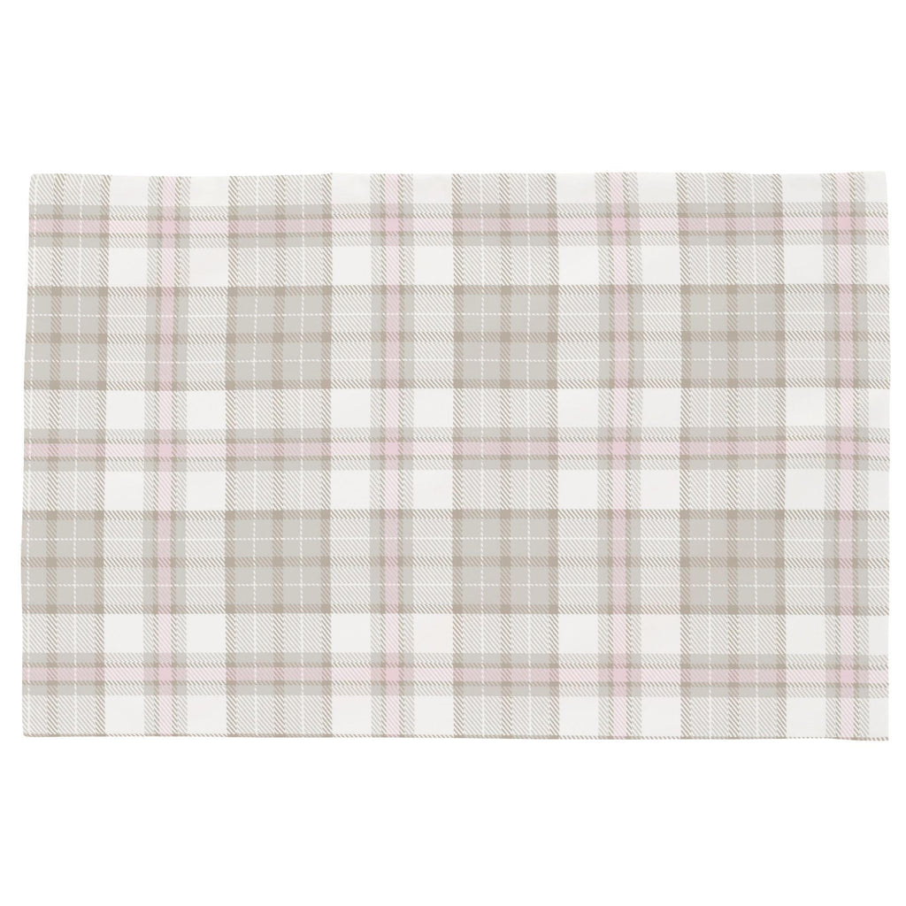 Product image for French Gray and Pink Plaid Toddler Pillow Case