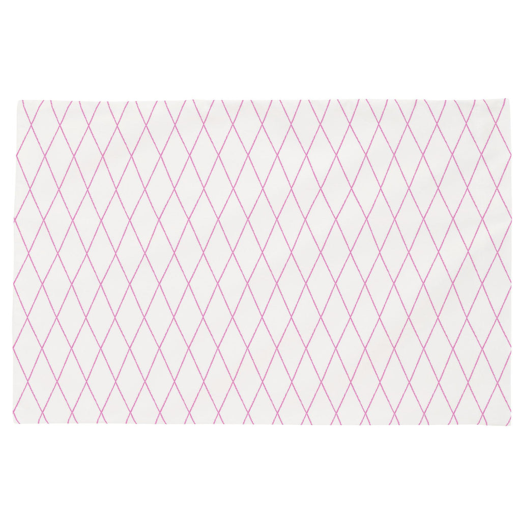 Product image for Hot Pink Princess Lattice Toddler Pillow Case
