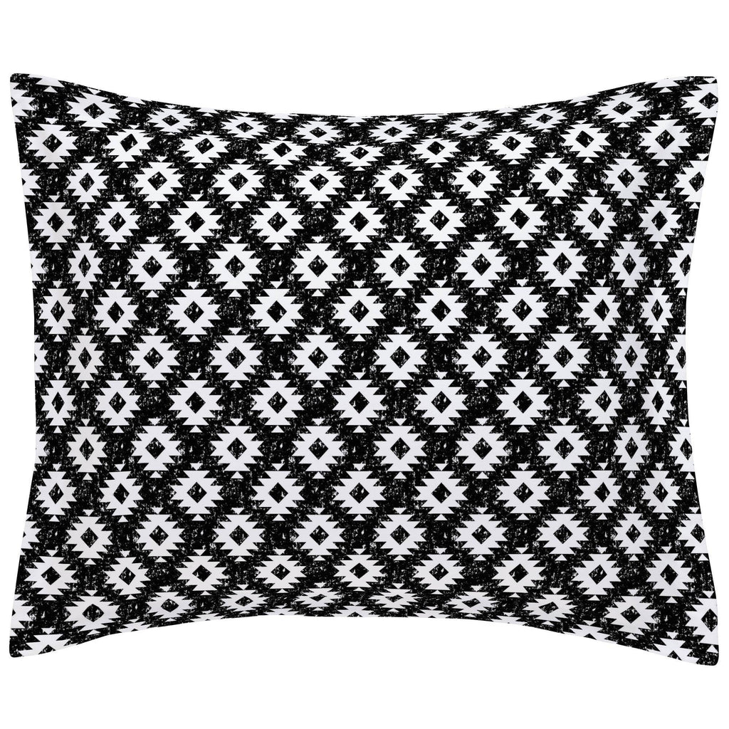 Product image for Onyx and White Aztec Pillow Sham