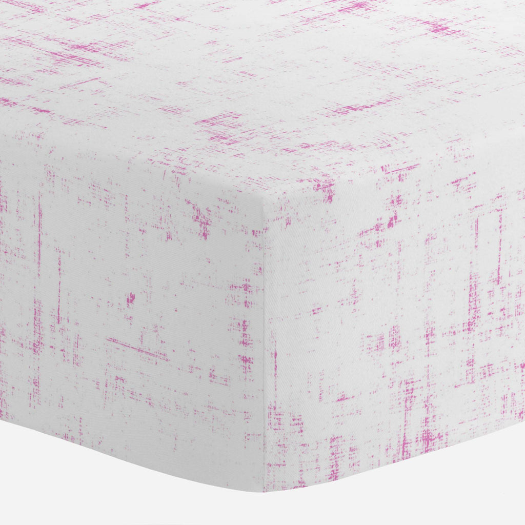 Product image for Hot Pink Distressed Crib Sheet