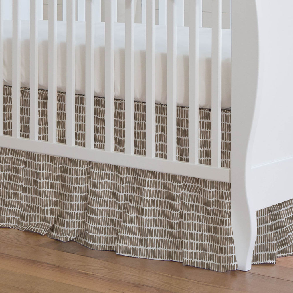 Product image for Mocha Forest Sticks Crib Skirt Gathered