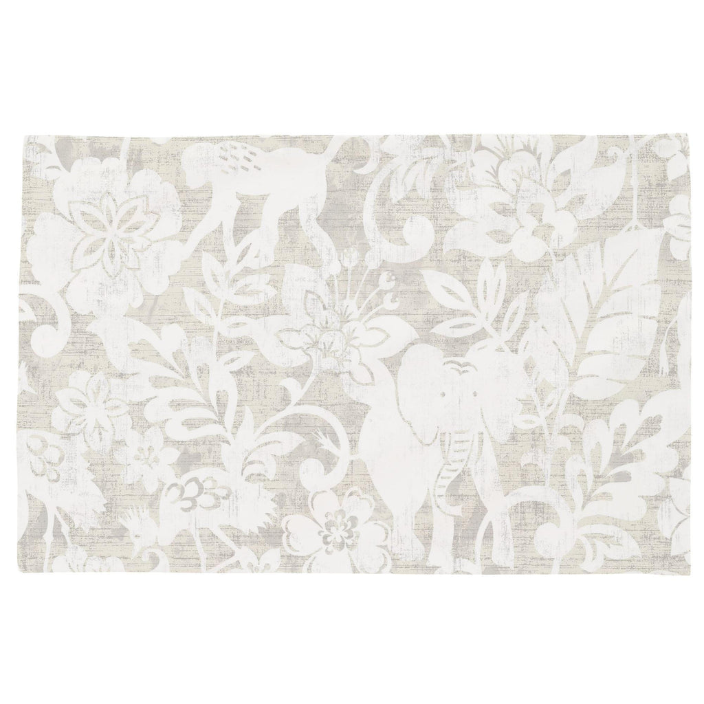 Product image for French Gray and White Jungle Toddler Pillow Case