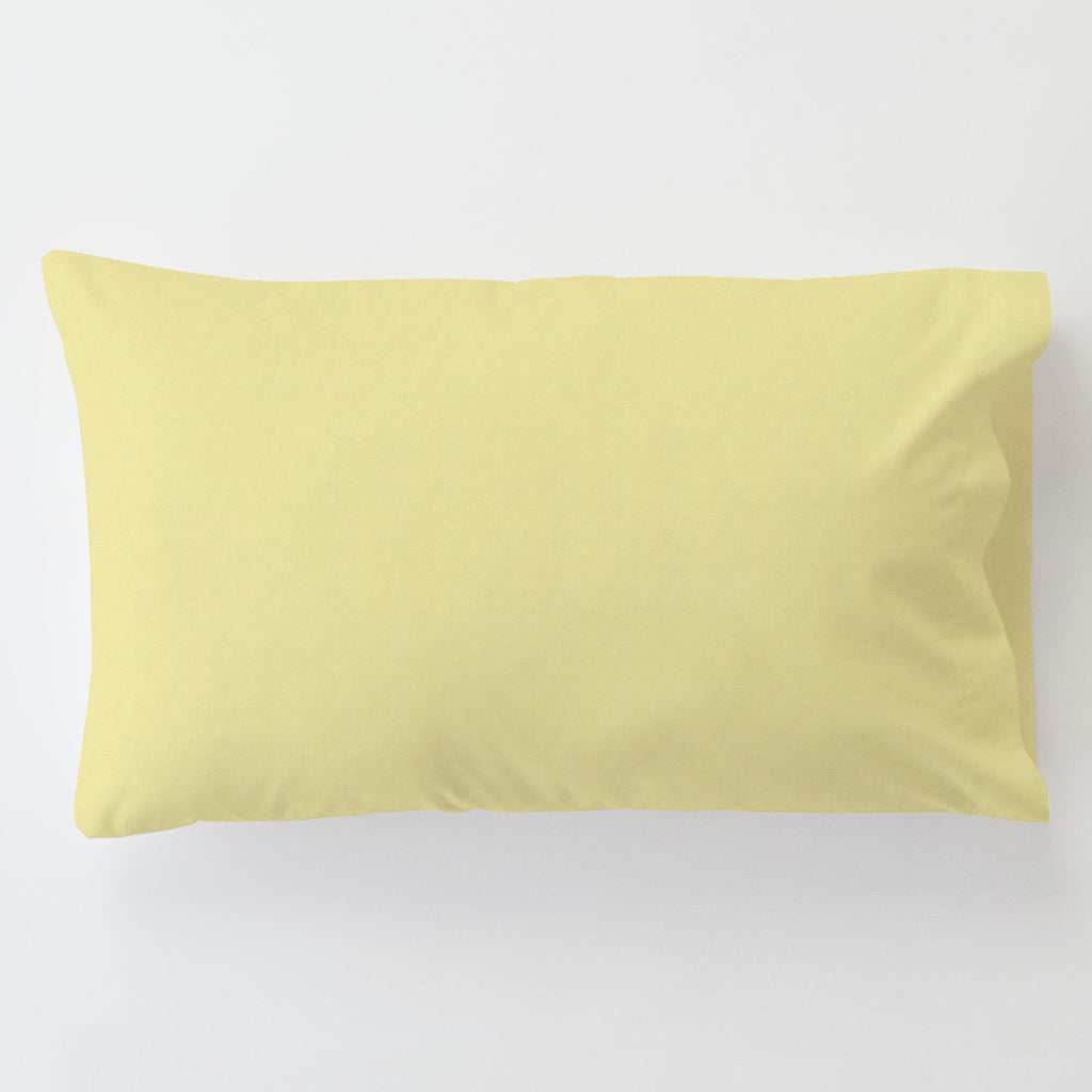 Product image for Yellow Minky Toddler Pillow Case with Pillow Insert