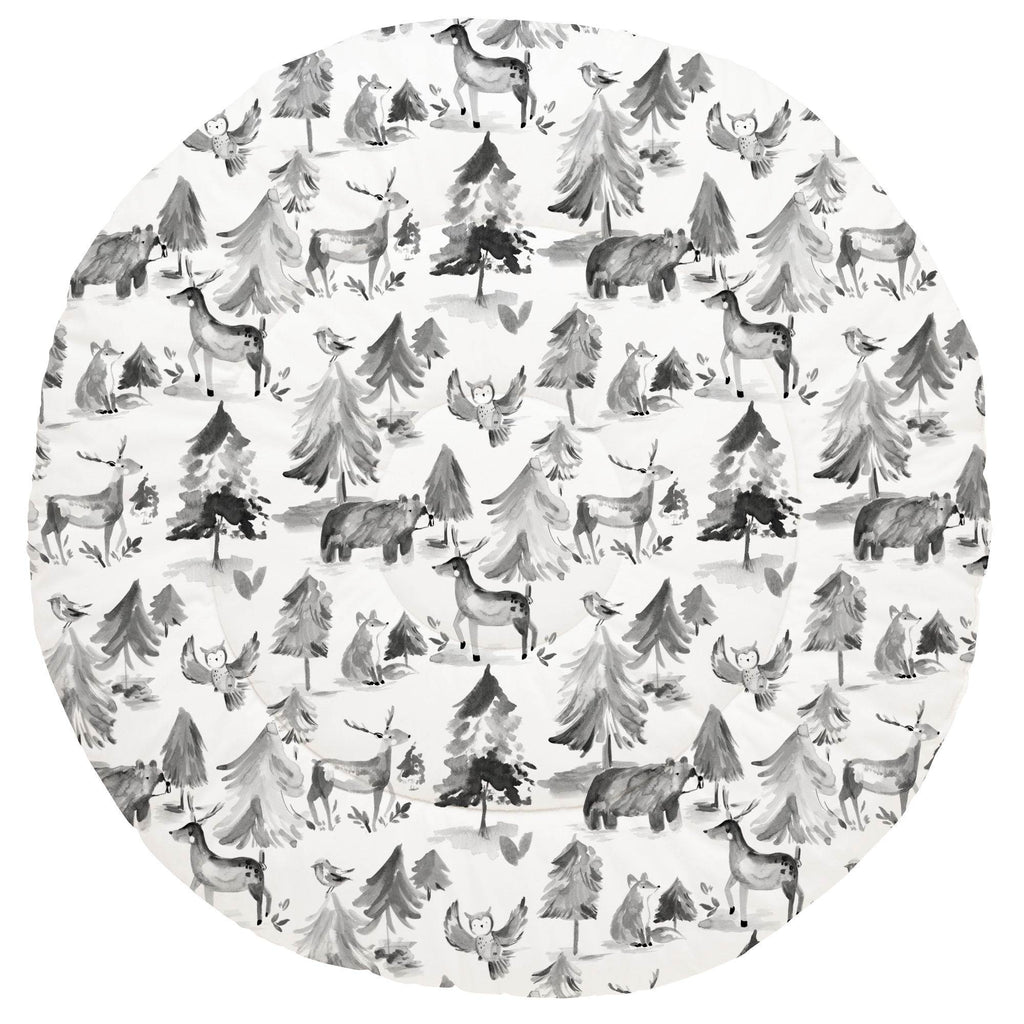 Product image for Gray Painted Forest Baby Play Mat
