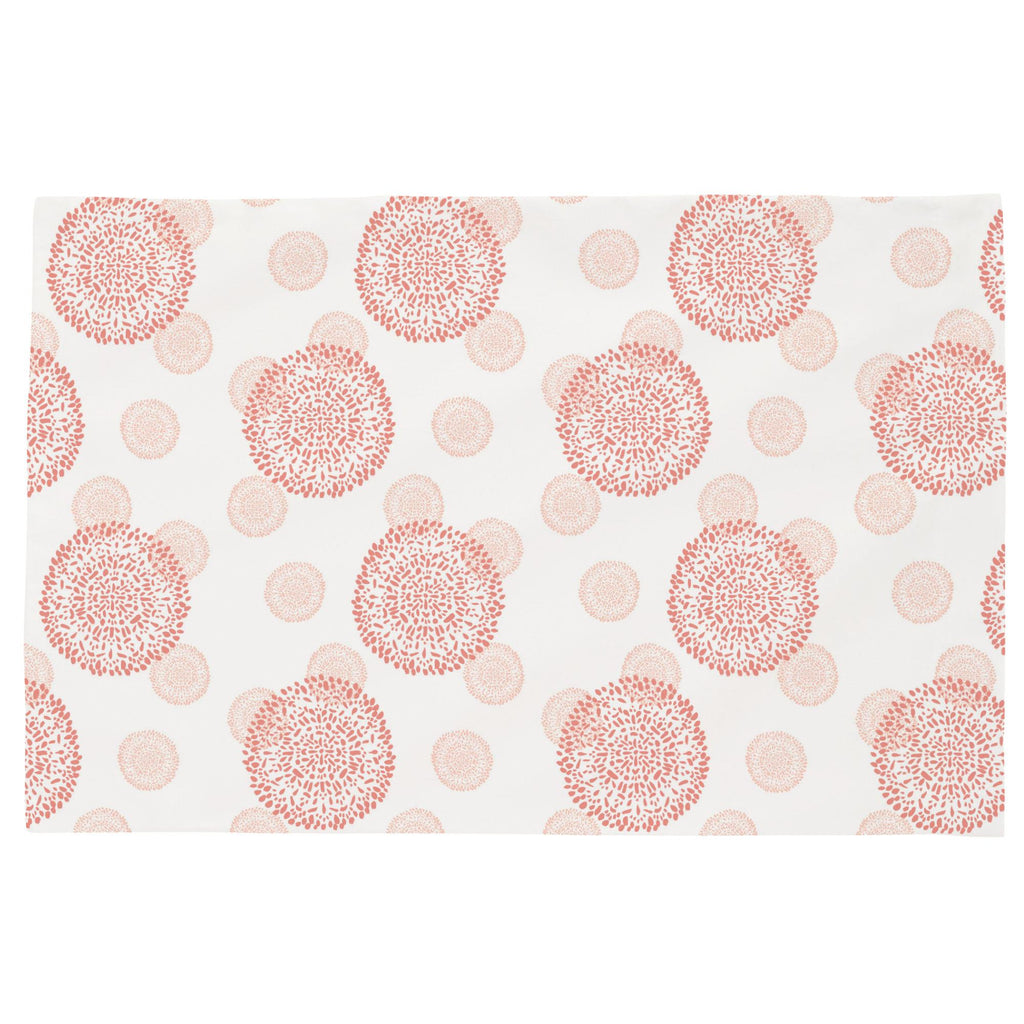 Product image for Light Coral and Peach Dandelion Toddler Pillow Case
