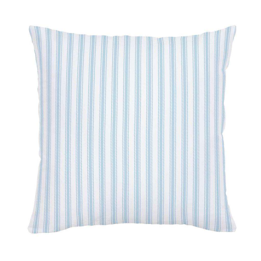 Product image for Lake Blue Ticking Stripe Throw Pillow