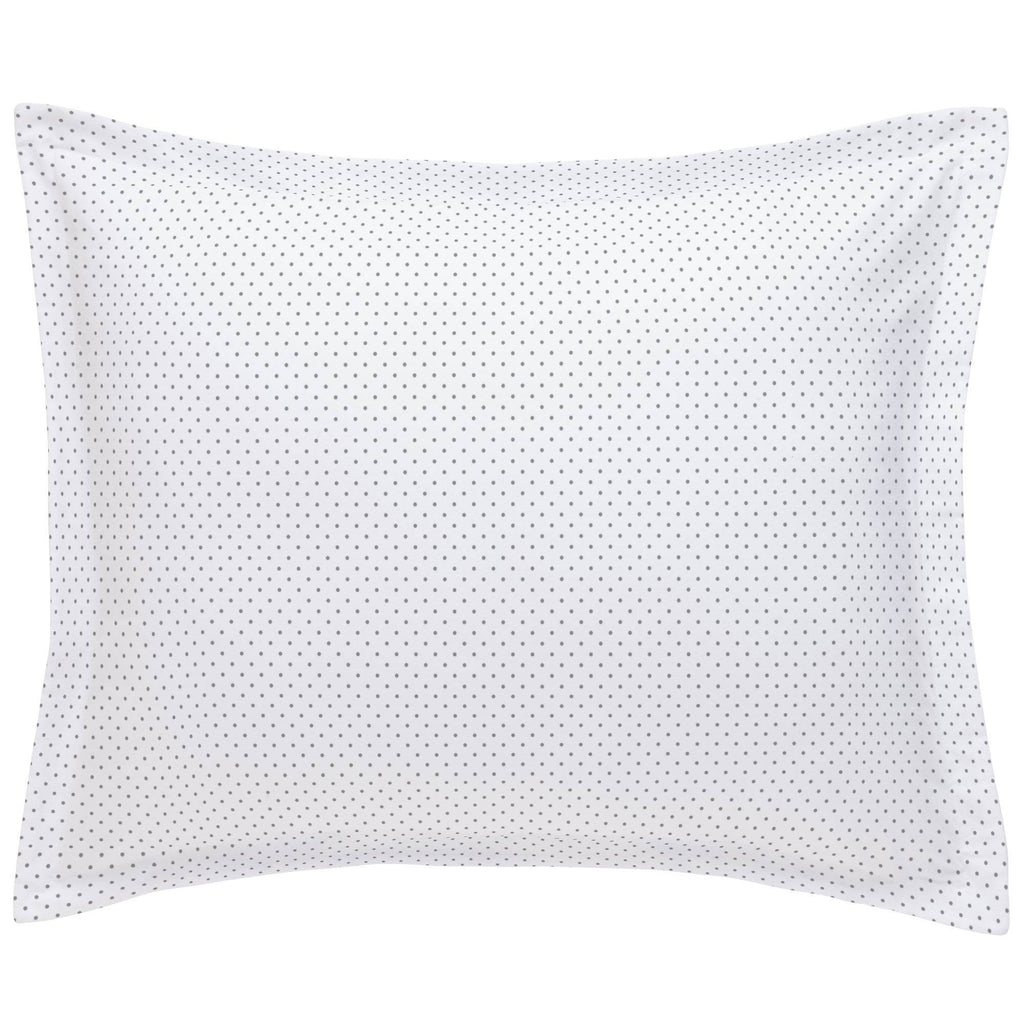 Product image for Cloud Gray Pin Dot Pillow Sham