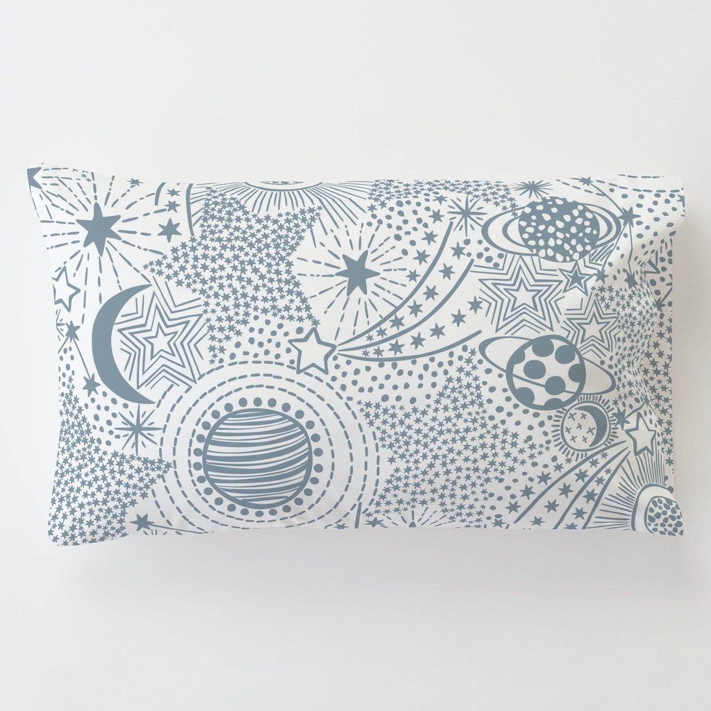 Product image for Steel Blue Galaxy Toddler Pillow Case with Pillow Insert