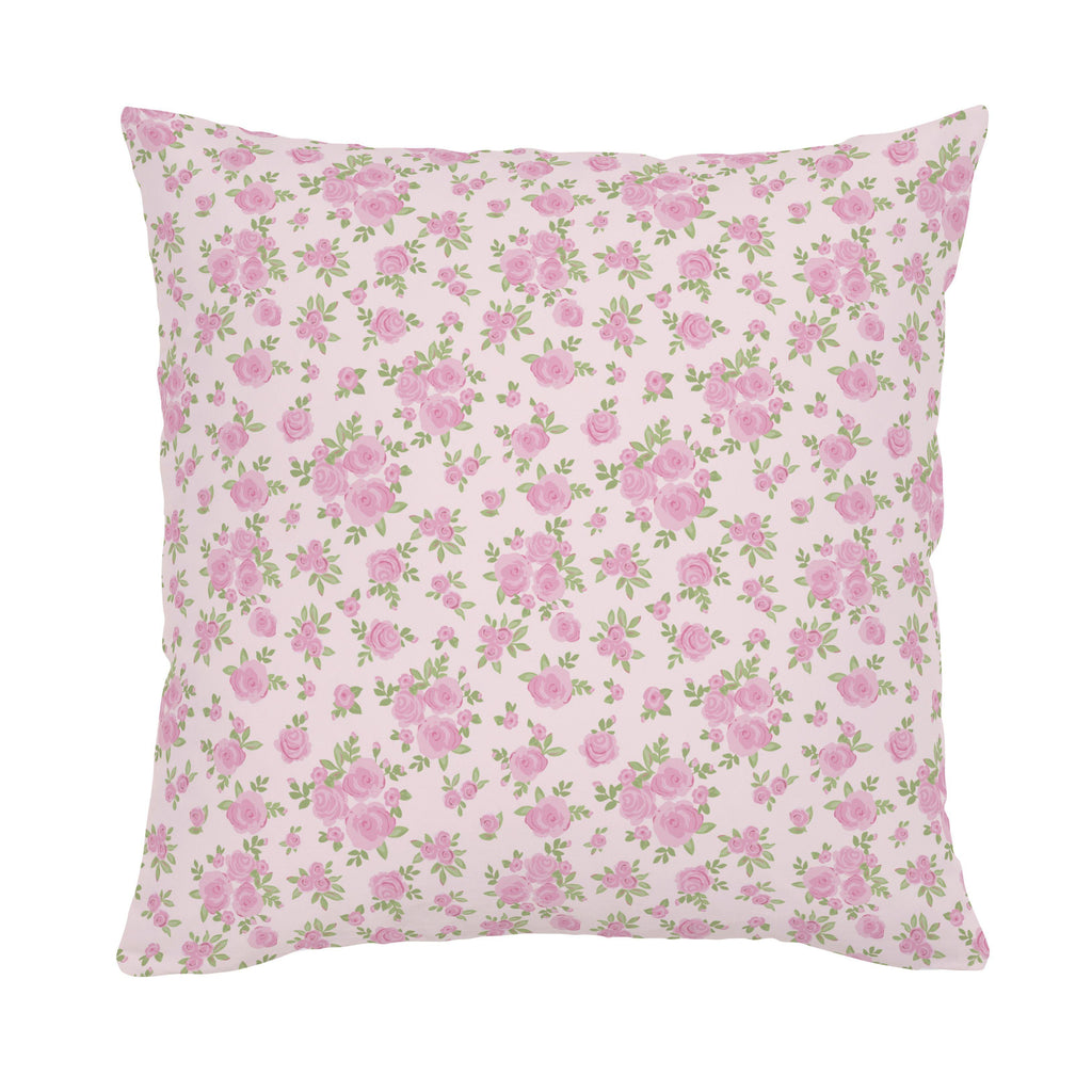 Product image for Pink Rosettes Throw Pillow