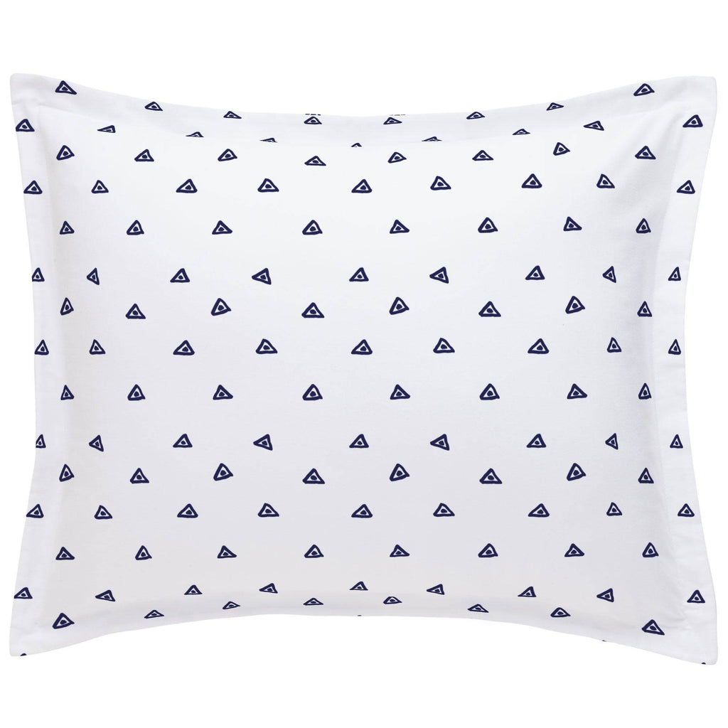 Product image for Navy Triangle Dots Pillow Sham