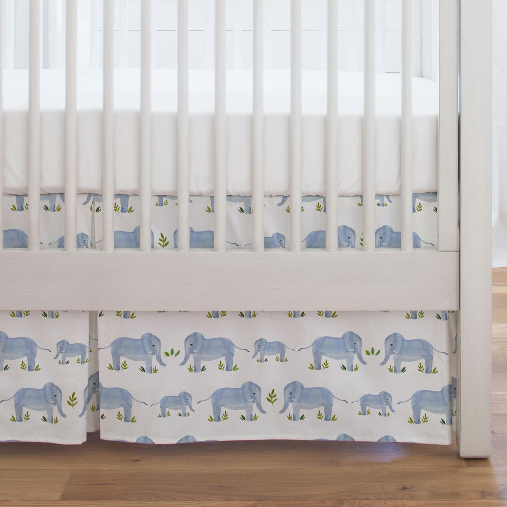 Product image for Painted Elephants Crib Skirt Single-Pleat
