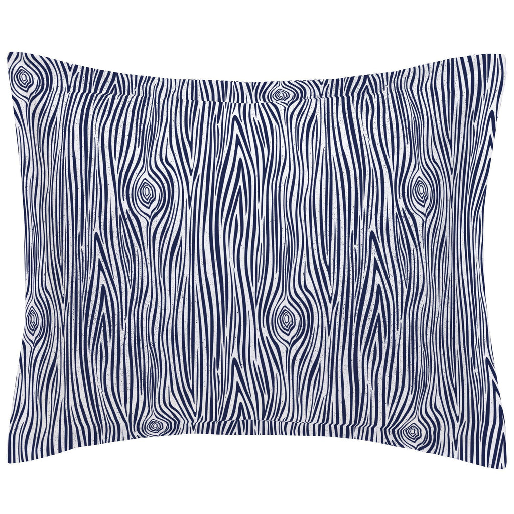 Product image for Navy Woodgrain Pillow Sham