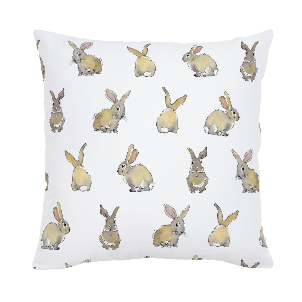 Product image for Watercolor Rabbits Throw Pillow
