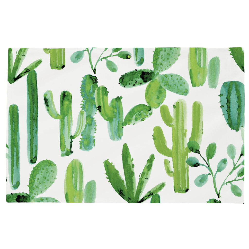 Product image for Green Painted Cactus Toddler Pillow Case