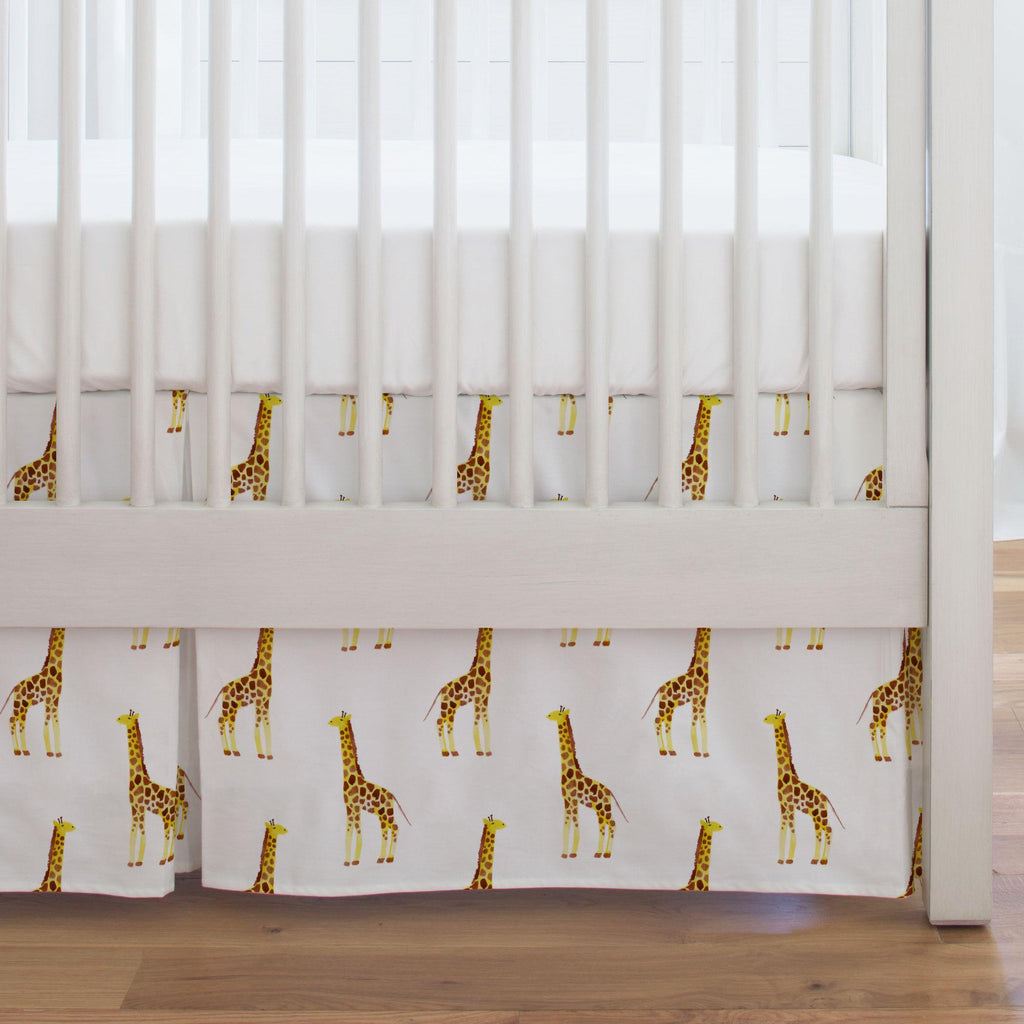 Product image for Painted Giraffe Crib Skirt Single-Pleat