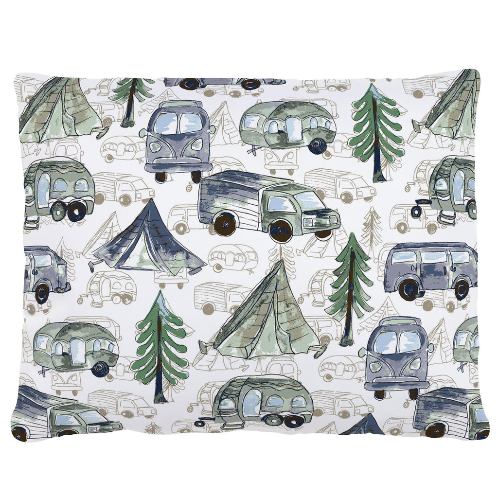 Product image for Navy and Seafoam Gone Camping Accent Pillow