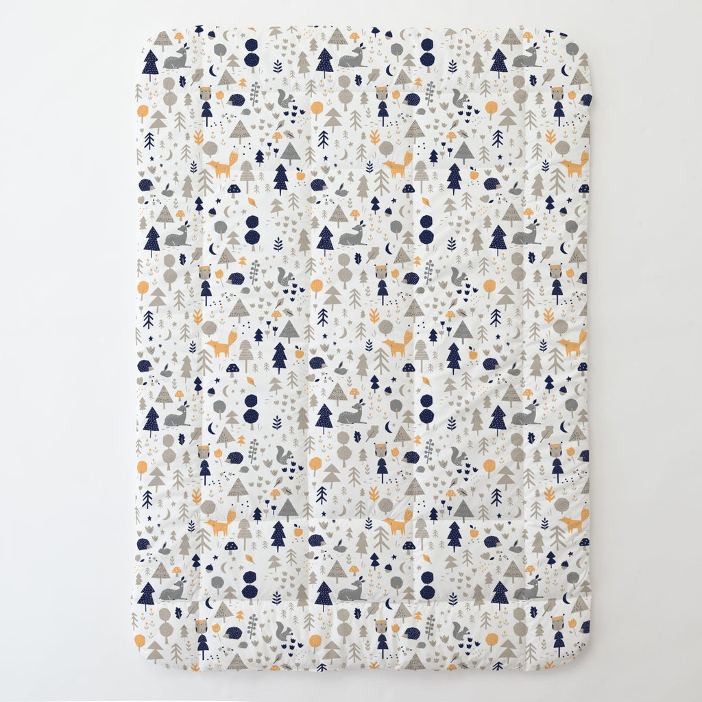 Product image for Taupe and Windsor Navy Baby Woodland Toddler Comforter