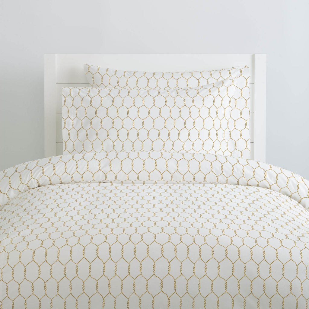 Product image for Mustard Farmhouse Wire Duvet Cover