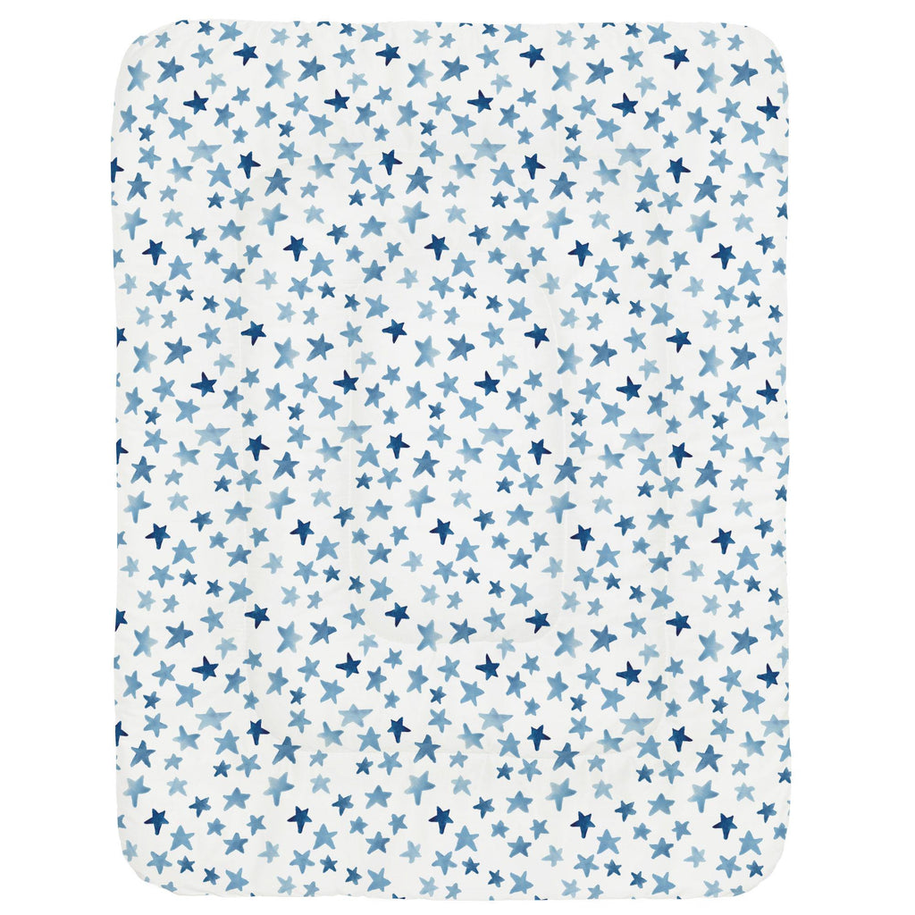 Product image for Blue Watercolor Stars Crib Comforter