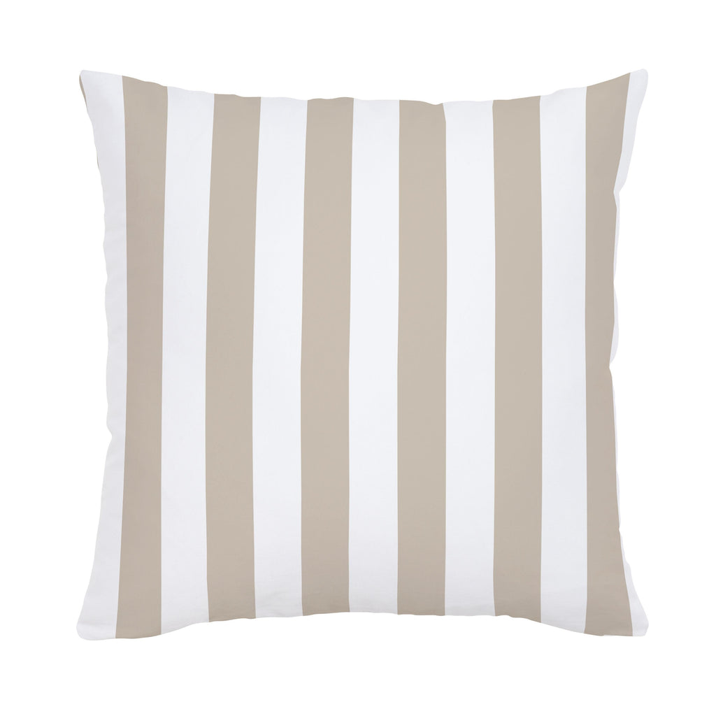 Product image for Taupe Stripe Throw Pillow