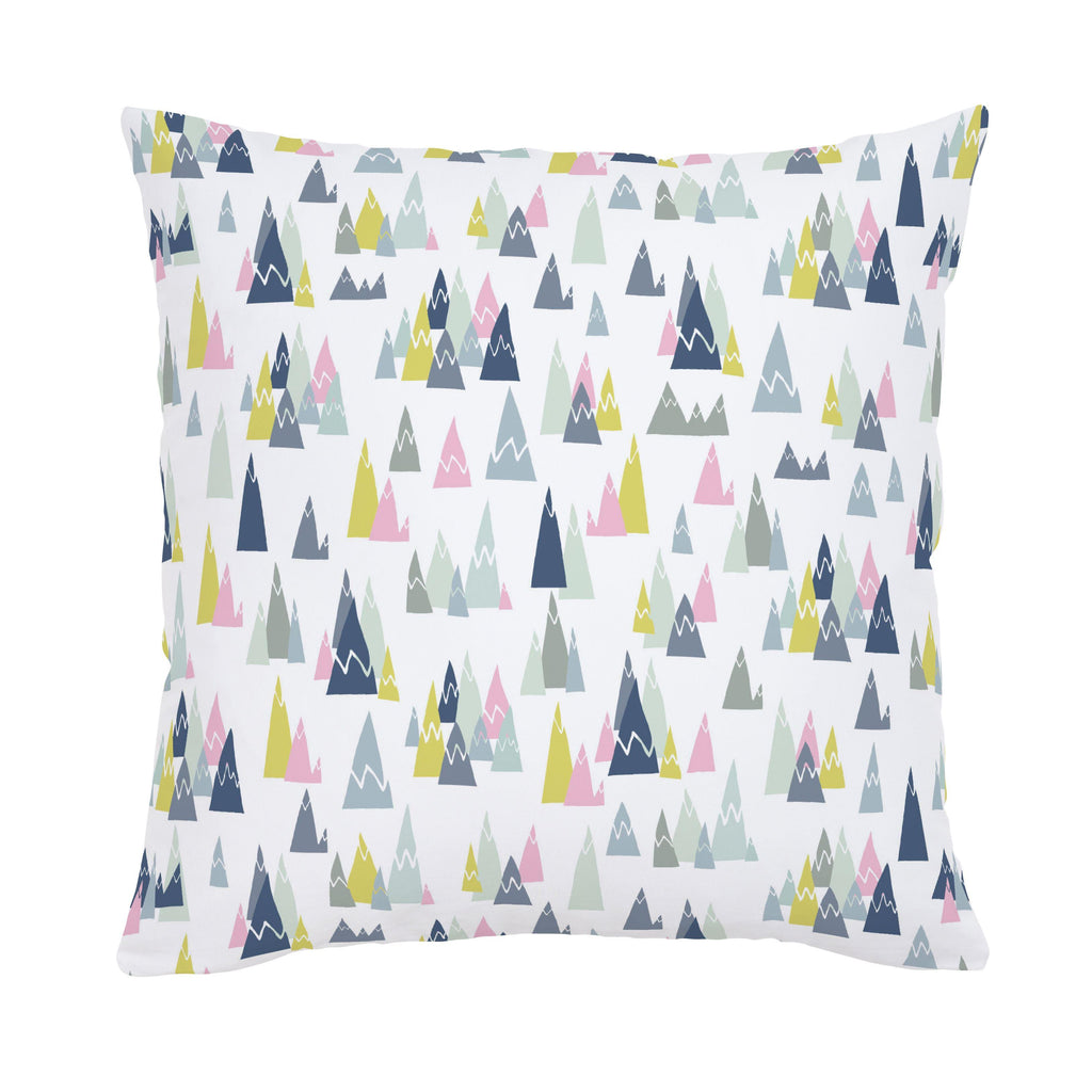 Product image for Pink Mountains Throw Pillow