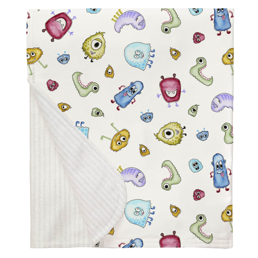 Product image for Watercolor Monsters Baby Blanket