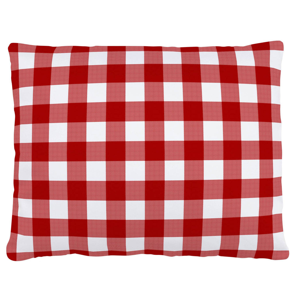 Product image for Red Gingham Accent Pillow