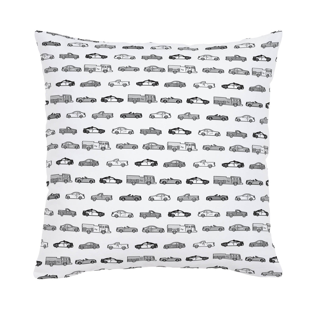 Product image for Gray Modern Cars Throw Pillow