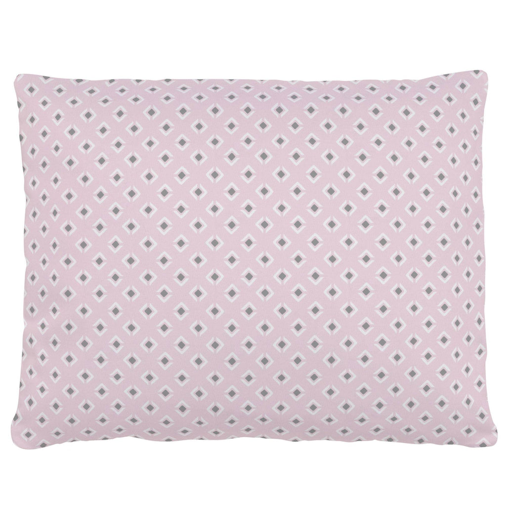 Product image for Pink and Gray Diamond Accent Pillow