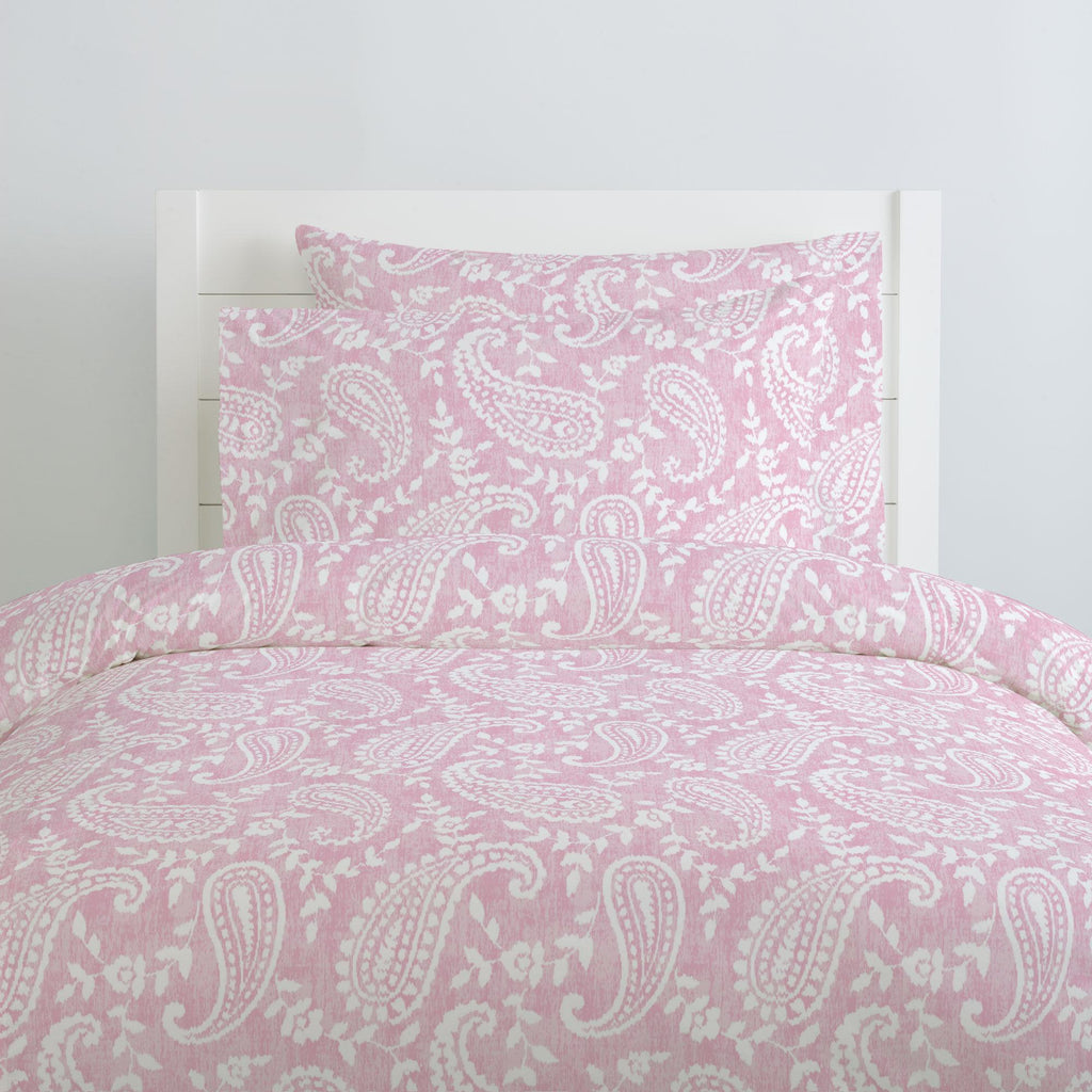Product image for Pink Paisley Duvet Cover