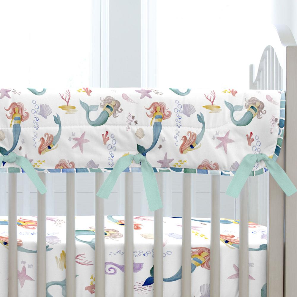 Product image for Watercolor Mermaids Crib Rail Cover