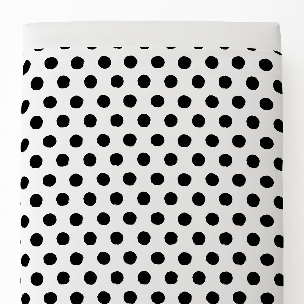 Product image for Onyx Brush Dots Toddler Sheet Top Flat