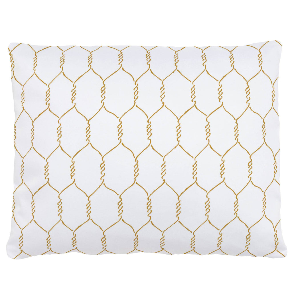 Product image for Mustard Farmhouse Wire Accent Pillow