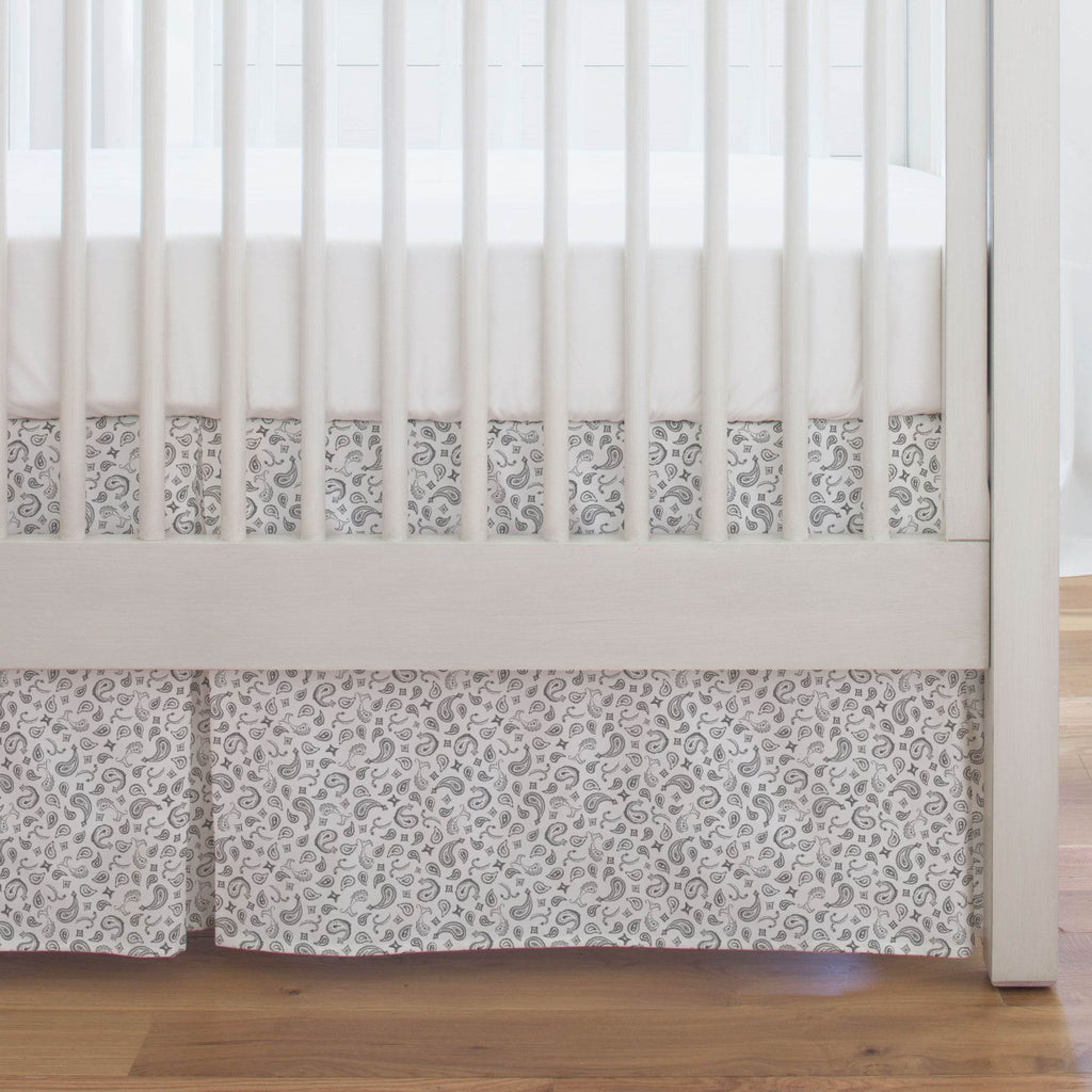 Product image for Bandana Paisley Crib Skirt Single-Pleat