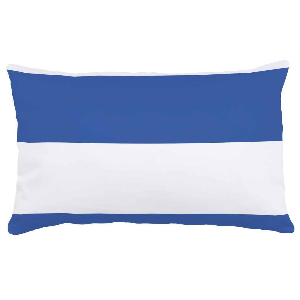 Product image for Ocean Blue Horizontal Stripe Lumbar Pillow