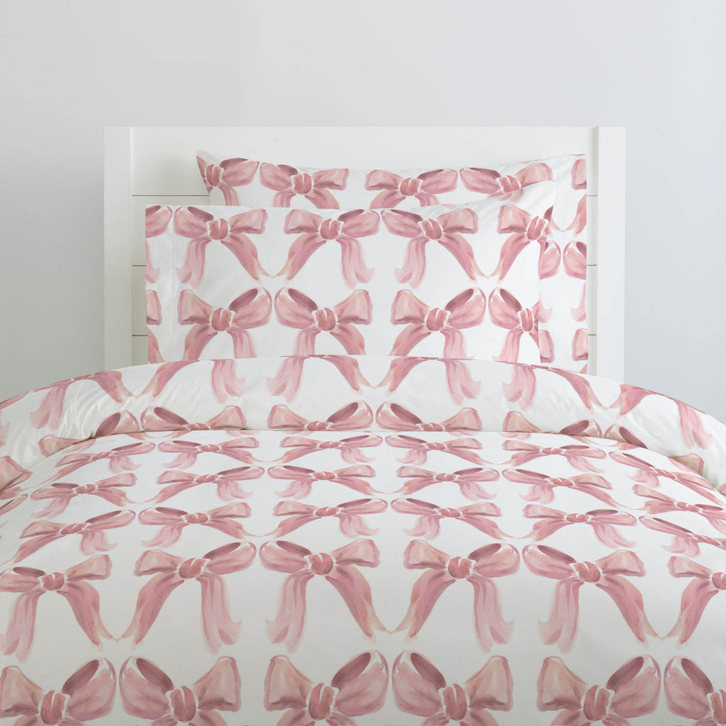 Product image for Pink Watercolor Bows Duvet Cover