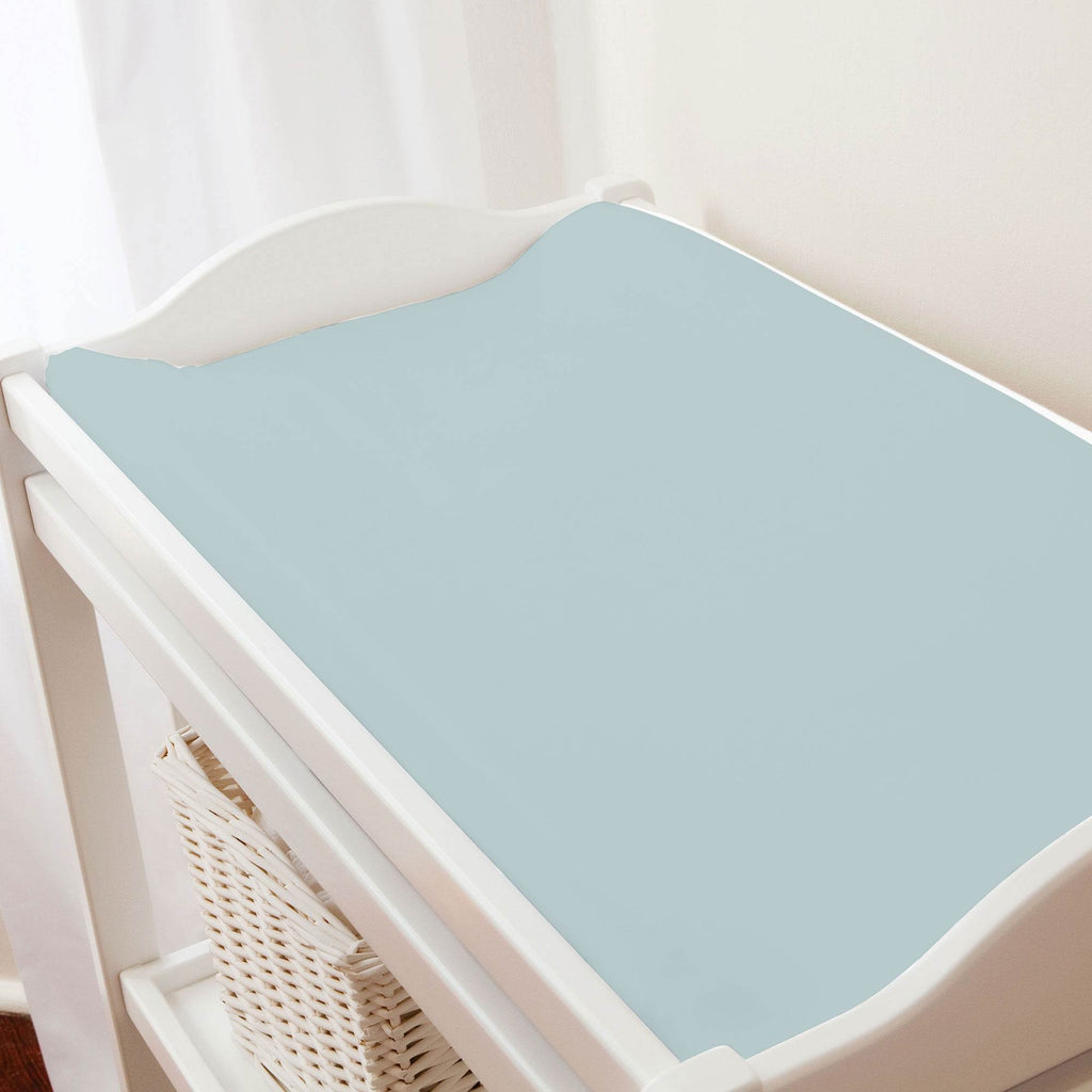 Product image for Solid Robin's Egg Blue Changing Pad Cover