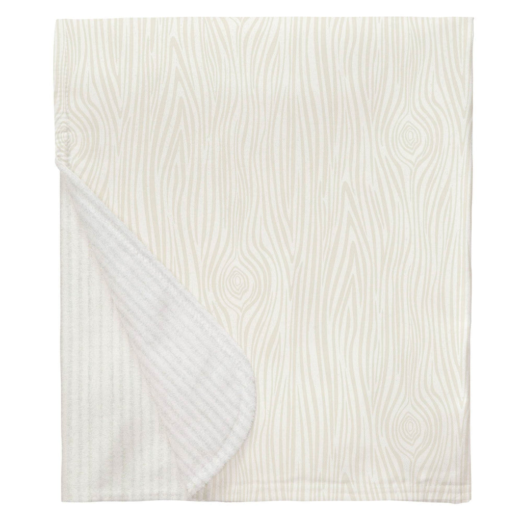 Product image for Ivory Woodgrain Baby Blanket